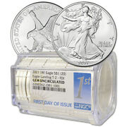 Roll Of 20 - 2021 W American Silver Eagle Type 2 Ngc Gem Unc First Day Issue
