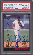 Yankees Derek Jeter Signed 1994 Signature Rookies 35 Card And Auto 10 Psa Slabbed