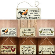 Chicken Plaques Wooden Hanging Signs Chicken Coop Home Wall Decor Outdoor L3
