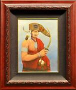 Robert Taylor Original Oil Painting On Board Southwest Portrait Art Submit Offer