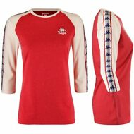 KAPPA AUTHENTIC ZABAD T-SHIRT atletica DONNA ROSSO gardenia Aut/inv NEW 913lusvc