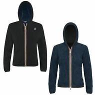 K-WAY Felpe RAGAZZA GIACCA AUT/INV reverse pile LILY POLAR New KWAY Nuovo 904cdd