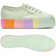 SUPERGA 2790 Scarpe DONNA zeppa 4cm MULTICOLOR fashion Menta MULTICOLORE New G64