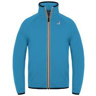 K-WAY FELPA collo alto giacca UNISEX KWAY LE VRAI ROMEO blue CALIFORNIA New 802t