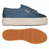 SUPERGA 2790 zeppa 4cm Scarpe DONNA ACOTW up and down Blu Prv/Est 2790ACOTW E34n