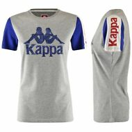 KAPPA AUTHENTIC ZABIT T-SHIRT ATLETICA Maglietta DONNA aut/inv Grigio Blu 900ppj