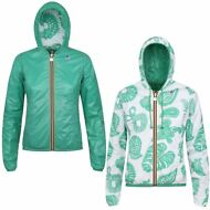 K-WAY LILY PLUS DOUBLE GRAPHIC GIACCA DONNA Cappuccio PRV/EST new KWAY 917adgknc