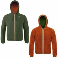 K-WAY FELPE UOMO Giacca AUT/INV reverse pile JACQUES POLAR New KWAY Nuovo 906cso