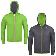 K-WAY JACQUES PLUS DOUBLE CAPPUCCIO KWAY Impermeabile giacca BAMBINO reverse 955