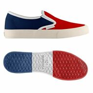 SUPERGA 2311 SLIPON UNISEX NYLON MOCASSINO Prv/Est NYLONMESHU Red-blue SLIP 934k