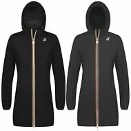 K-WAY VIRGINIE PLUS DOUBLE giacca DONNA LUNGA 3/4 IMPERMEABILE PRV/EST KWAY A20p