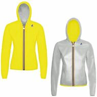 K-WAY LILY PLUS DOUBLE FLUO giacca DONNA IMPERMEABILE cappuccio New KWAY 905zfml