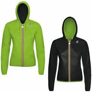 K-WAY LILY PLUS DOUBLE FLUO giacca BAMBINA IMPERMEABILE CAPPUCCIO new KWAY 903gx
