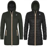 K-WAY DENISE THERMO PLUS DOUBLE Giacca DONNA 3/4 imbott.piuma aut/inv KWAY G11zx