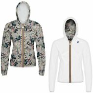 K-WAY LILY PLUS DOUBLE GRAPHIC GIACCA DONNA Cappuccio PRV/EST NEW KWAY 998jbjahm