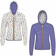 K-WAY LILY PLUS DOUBLE GRAPHIC Giacca RAGAZZA cappuccio Prv/est New KWAY 996oomf