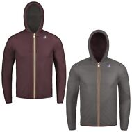 K-WAY reverse giacca UOMO KWAY leggera CAPPUCCIO JACQUES PLUS DOUBLE Rosso A56af