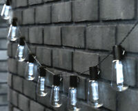 12ft Holiday String Lights With 10 bulbs,Indoor/Outdoor Create Cafe Ambience