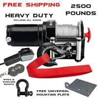 2500LB Pound WINCH KIT ATV QUAD POLARIS SPORTSMAN 400 500 550 570 800 850 HO