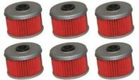 Honda TRX300, 350 and 420 Rancher, 400 450 500 Foreman ATV Oil Filters (6) Pack