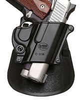 Fobus C21B Black Plastic paddle holster for 1911 compact