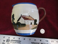 Vintage Motto Ware Royal Torquay Watcombe Creamer Hand Painted Cottage England