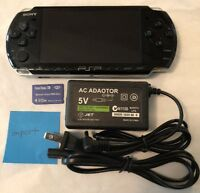BLACK Sony PSP 3000 System w Charger amp; Memory Card Bundle TESTED WORKS Import $112.00