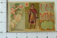 Christmas Trade Card A. Sharpe & Co Dry Goods French Tarot Card Games F67