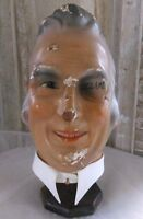 Vintage mannequin head,marotte,advertising head, store display head,counter top