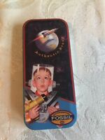 Vintage Fossil Watch in Tin Rocket Boy