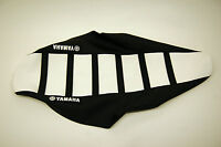 New Ribbed Yamaha Logo Seat Cover White/Black Ribs YFZ450 YFZ 2004-2009 QUAD ATV