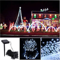 105ft 300 LED Solar String Lights Fairy Waterproof For Outdoor Party Xmas Tree