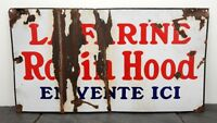 1940#x27;s Robin Hood Flour HTF Heavy Porcelain Sign 15quot; x 28quot; French Canadian