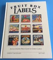 *Vintage* FRUIT BOX LABELS 1995 Illustrated PRICE GUIDE Book McCLELLAND/LAST