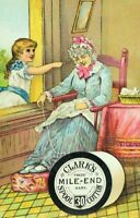 Clark#x27;s Spool Cotton Thread Grandmother Sleeping Girl Sewing Trade Card P74