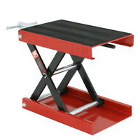 1100LB Wide Deck Motorcycle Center Scissor Lift Jack Hoist Stand Bikes ATVs Red