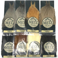 METZ COCK NECK GRADE #3 - Dry Fly Tying Rooster Cape Hackle Feathers - 8 Colors!