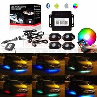 4 Pods RGB LED Rock Lights Offroad Music Wireless Bluetooth Control for ATV SUP