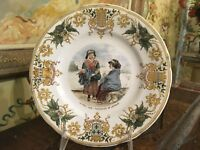 Lovely French Sarreguemines Decorative Plate