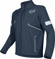 Fox Racing Mens Legion Softshell Navy Blue Dirt Bike Jacket Dual Sport Trail ATV