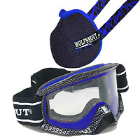 Wolfsnout Ground Force Goggles and ATV UTV SXS Dust Mask Set up Blue