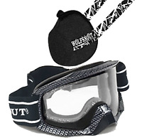 Wolfsnout Ground Force Goggles and ATV UTV SXS Dust Mask Set up Black