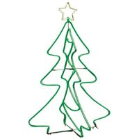 GE 5-ft Freestanding Tree with Constant Green 690 LED Lights