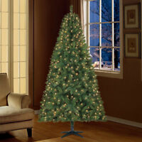 Holiday Time 7.5ft Pre-Lit Kennedy Fir Artificial Christmas Tree with 450 Clear