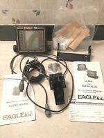 VERY NICE EAGLE ULTRA FISH DEPTH FINDER W/TRANSDUCER & BRACKET & INSTRUCTIONS