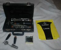 Vintage Wooden Noblet N Paris Clarinet, Used, Hard Case Included W/ Book h32231#