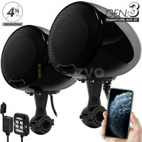 600W Motorcycle Bluetooth Wireless 2 Speakers Audio System Stereo ATV UTV Can-Am