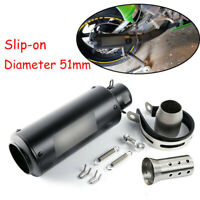 Motorcycle Scooter ATV Exhaust Muffler Tip Tail Vent Pipe DB Killer Outlet Tube