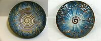 2 Vintage signed BILL CAMPBELL POTTERY ART STUDIO 12