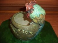 RARE AMPHORA VASE WITH COCKEREL THEME OF ROOSTER ON VASE VERY* RARE*